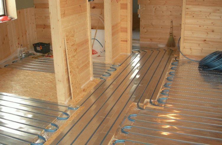 Как сделать теплый пол в деревянном доме своими руками 64