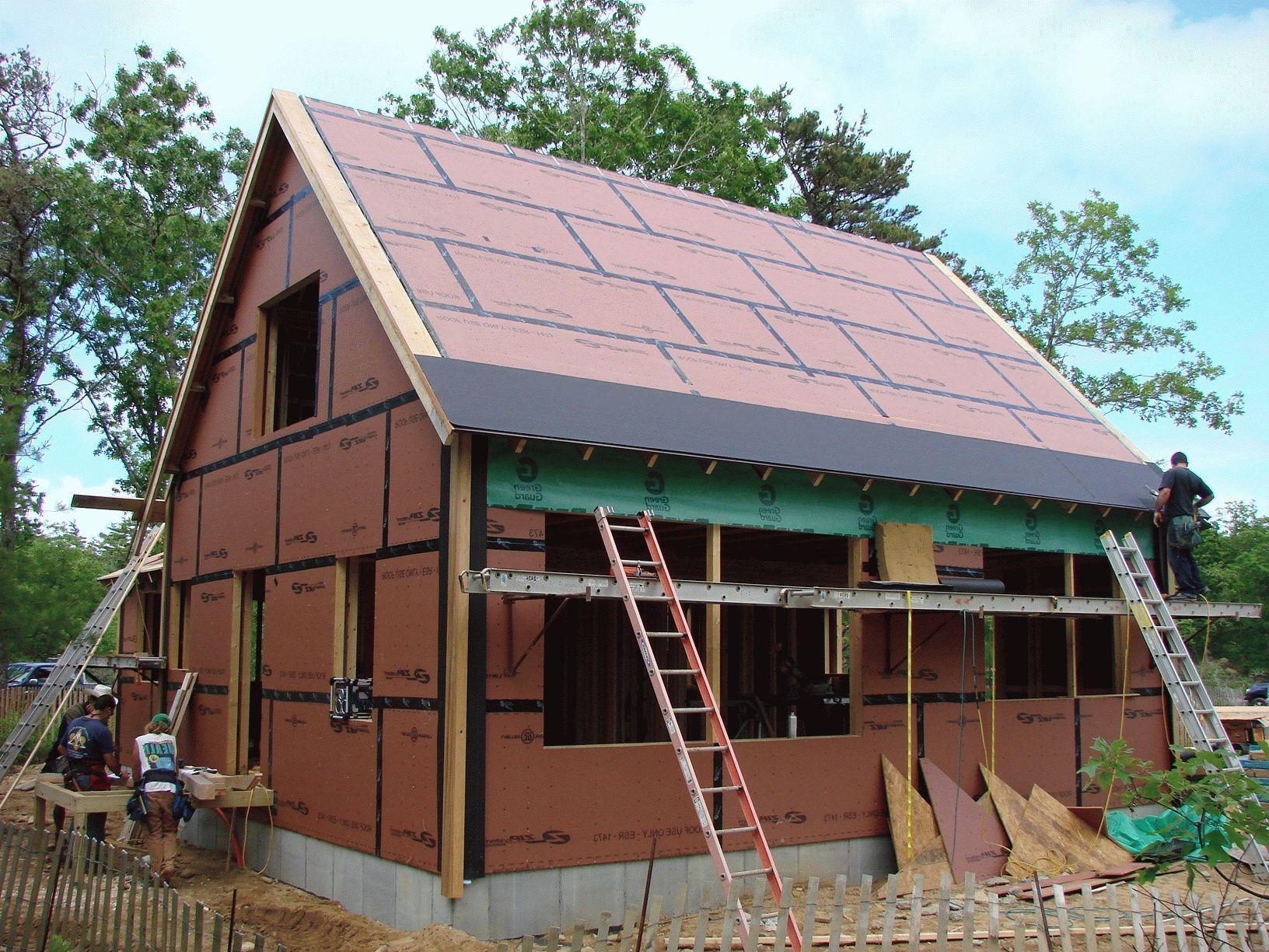 442Как правильно построить односкатную крышу своими руками